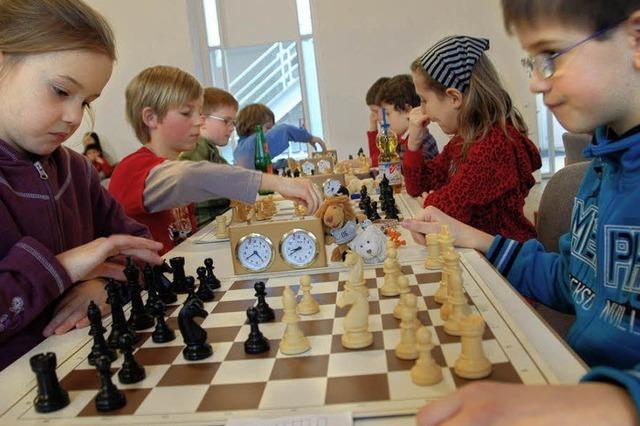 Bereits im Grundschulalter bereitet Schach Freude