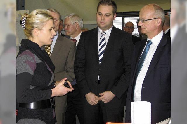 Landesminister besucht die Firma Osypka