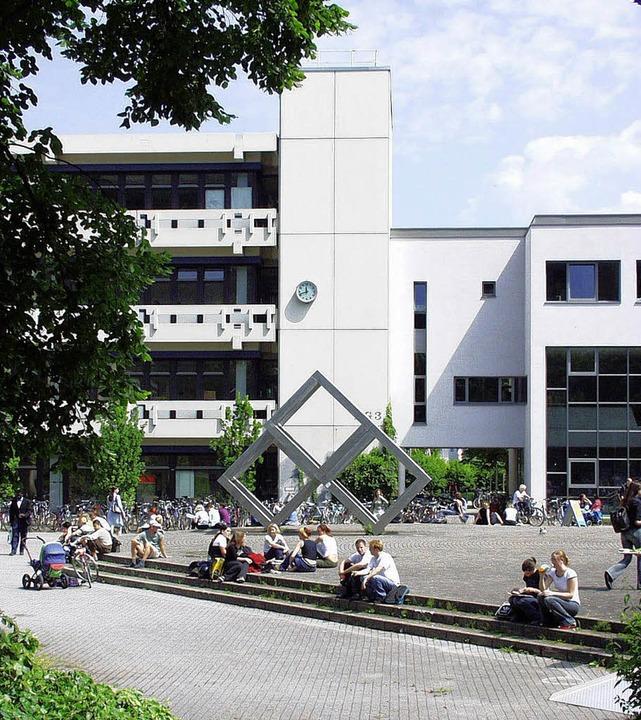 Der Campus – hier: PH Freiburg &...n und Brutstätte unbotmäßiger Romane.     Foto: schneider/sasse