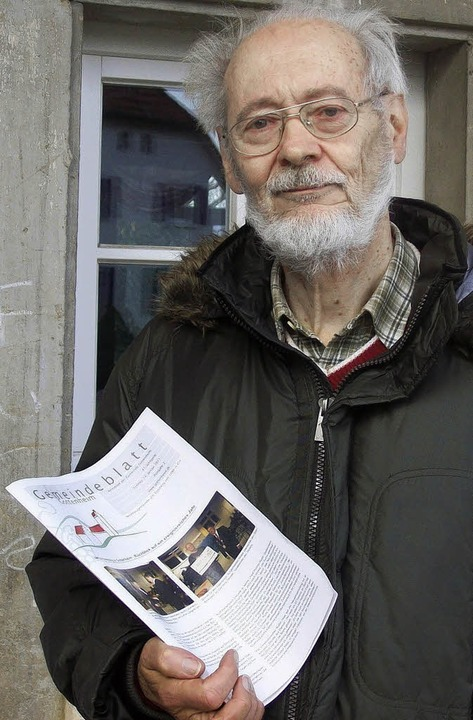 Joachim Bammert betreibt Bildungsarbeit in Gottenheim.   | Foto: jenny leonhard