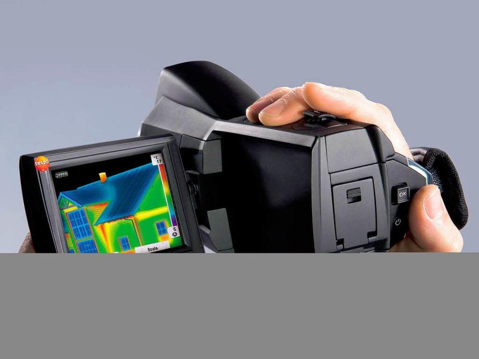 Die neue Wärmebildkamera im Camcorder-Format.   | Foto: Testo