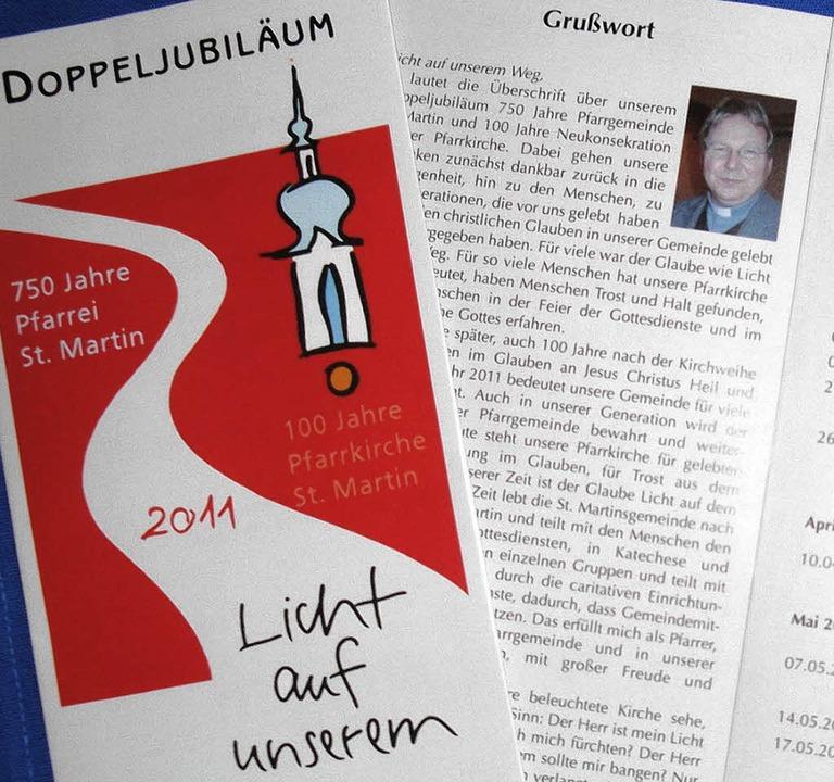 Ein Flyer wird die Wehrer über das Pro... zum Kirchenjubiläum informieren.         Foto: hansjörg bader