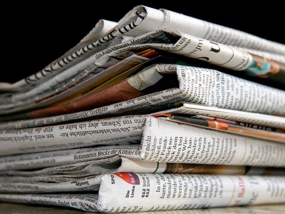 Zeitung lesen macht Spaß!    Foto: Detlef - Fotolia