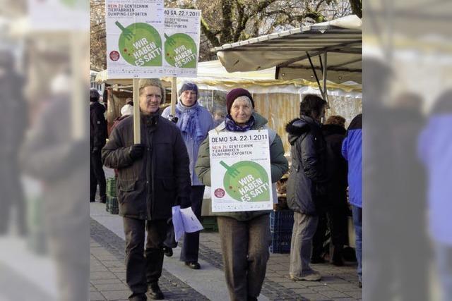 Protestmarsch gegen Tierfabriken