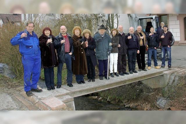 Eine Brücke in Eigenregie