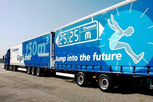 Großversuch mit Großlastwagen: Die Gigaliner rollen an