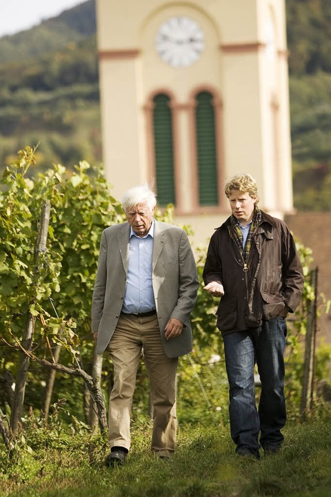 Wolf-Dietrich Salwey (links) mit seinem Sohn Konrad.  | Foto: privat