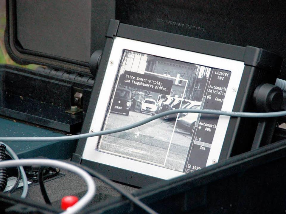 Das Beweisfoto auf dem Bildschirm.  | Foto: Marius Alexander