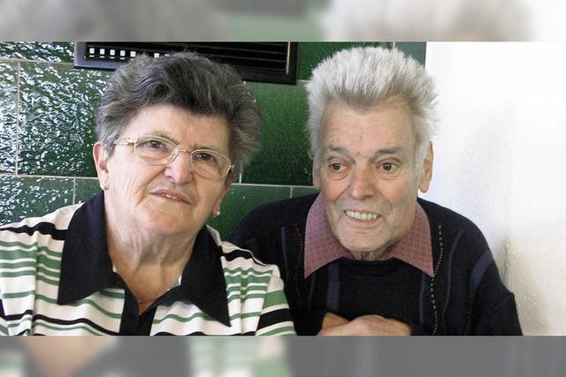 Das Paar ist stolz auf acht Enkel und zwei Urenkel