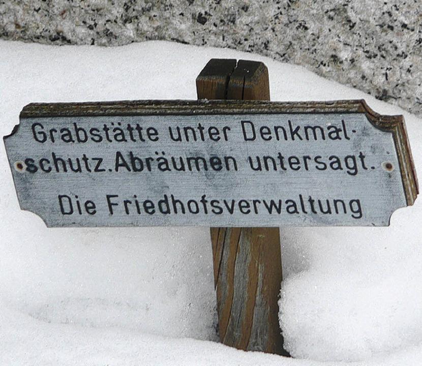 alter friedhof, unter denkmalschutz  | Foto: peter stellmach