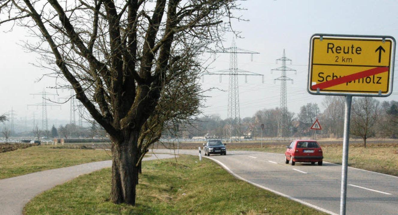 Mit dem Umsetzen von Strommasten zwisc...r die Baden-21-Trasse gespart werden.   | Foto: Frank Kiefer