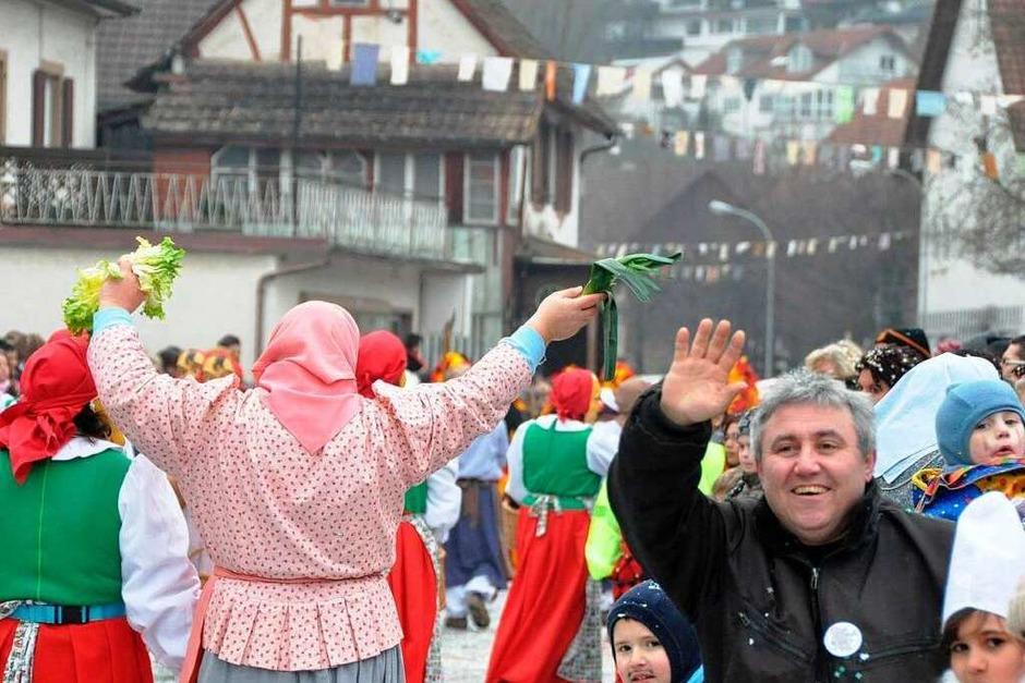 Impressionen vom Jubiläumsumzug in Hauingen (Foto: Barbara Ruda)