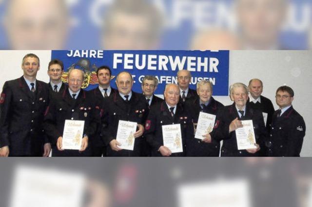 Letzte Hauptversammlung der Grafenhausener Wehr