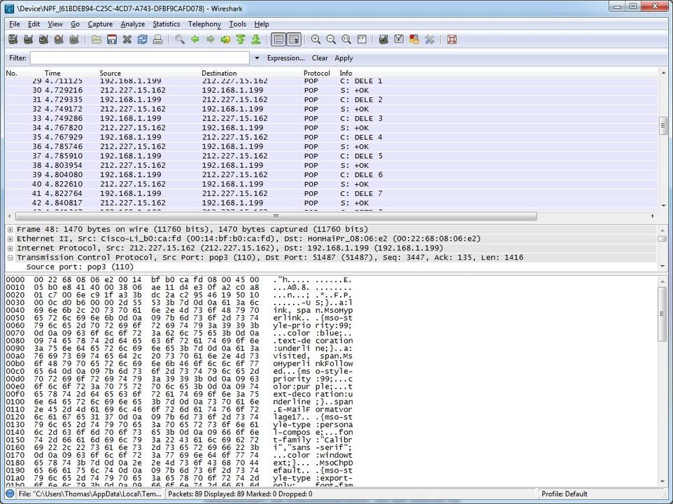 Der Transfer vom E-Mail-Server zum Cli...nd Port-Mirroring protokolliert werden    Foto: IDG