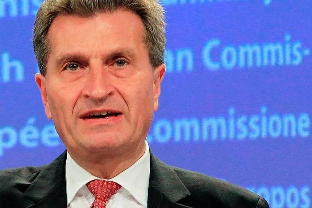 Energiepolitik: Oettinger will Kleinstaaterei beenden
