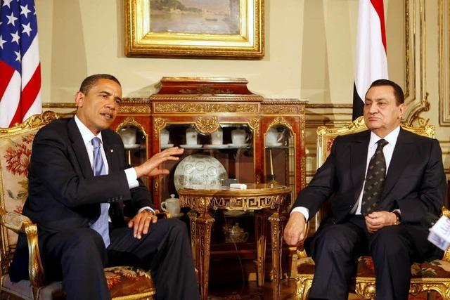 USA ziehen Strippen für Mubaraks Rückzug