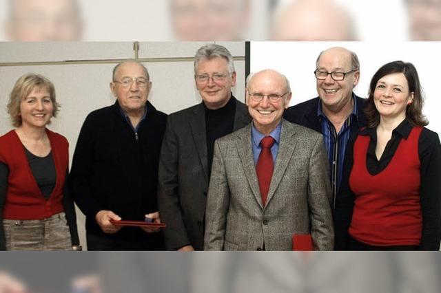 SPD ehrt drei altgediente Genossen