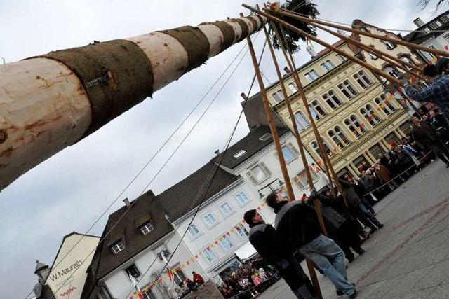 Fotos: Narrenbaumstellen in Lörrach