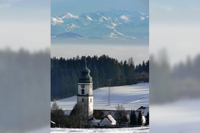 Ein Vorfrühling mit Alpensicht