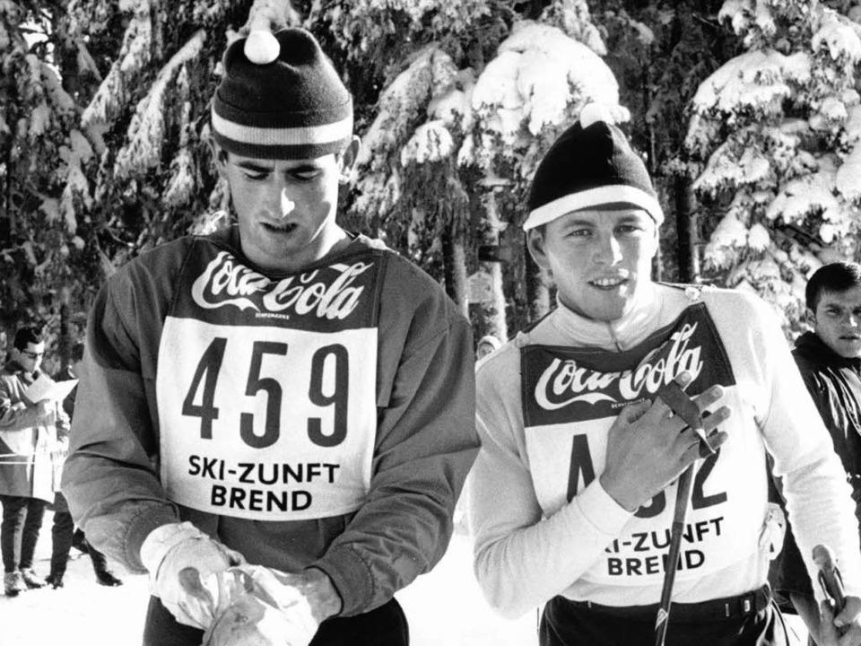Geschichtsschreibung im Schnee: Ralph ...z Keller (rechts) vom SK Nesselwang.    | Foto: dpa