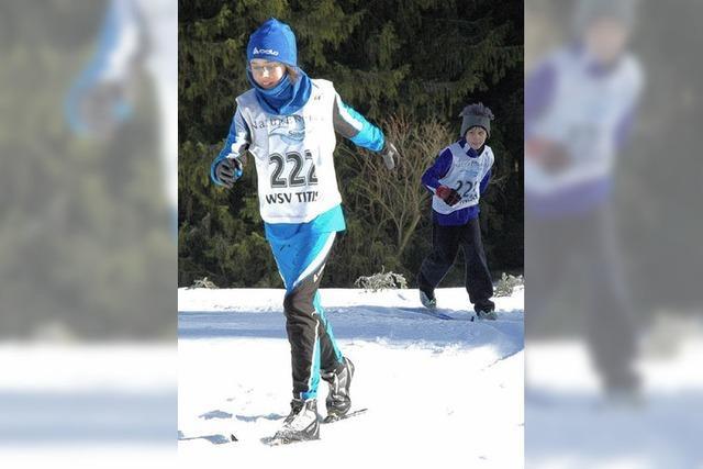 Auf der Schneeinsel beben die Ski