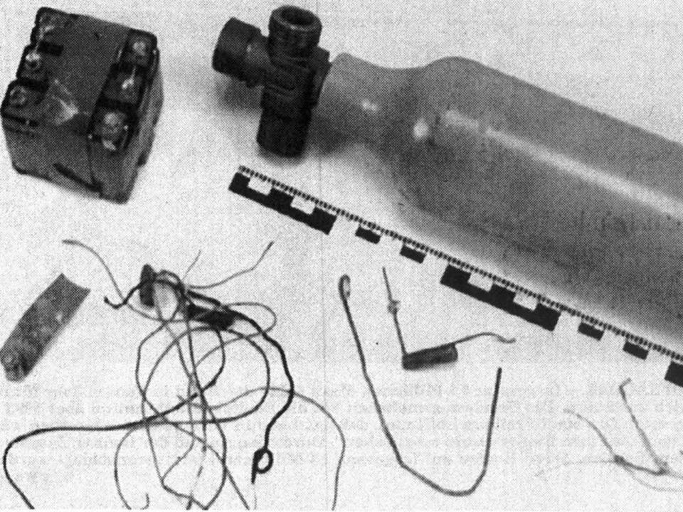 Der von der Polizei rekonstruierte Sprengkörper  | Foto: ZVG/Repro BZ