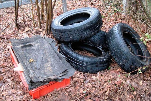 Müll illegal entsorgt bei Hecklingen