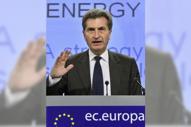 """Oettinger: """"Gebäudesanierung vor Konsum"""""""