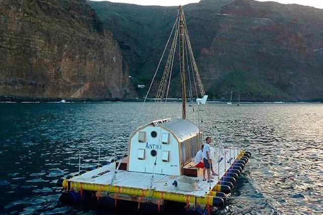 84-Jähriger will den Atlantik im Floß überqueren