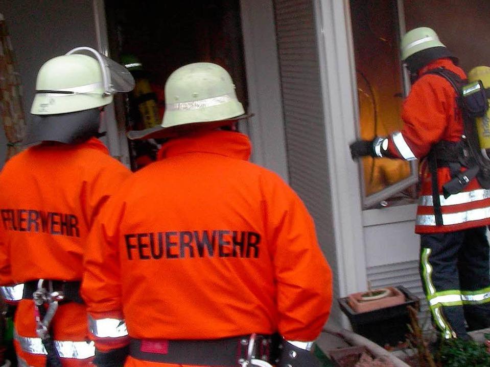 Feuerwehreinsatz in March-Hugstetten.  | Foto: Mario Schöneberg
