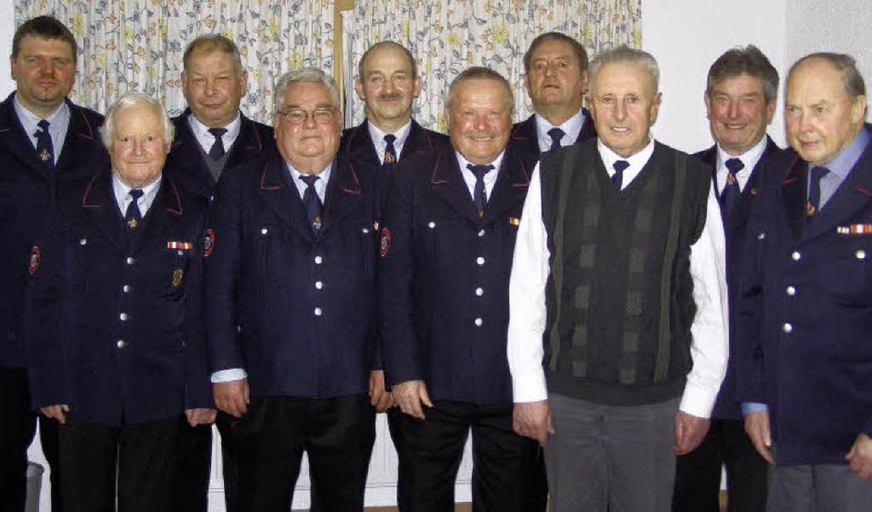 Geehrt wurden in der Hauptversammlung ...fle, Egon Stegerer und Alfons Ganter.   | Foto: Liane Schilling