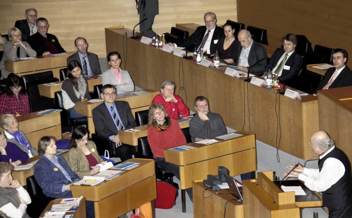 Bürgermeister Christian Behringer info...ungstag im Landtag Baden-Württemberg.   | Foto: Dieckmann
