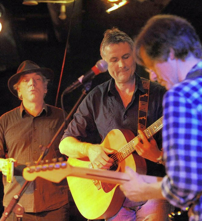 Diese Wunderbare Band: Georg Marschall...n von Thomas Müller und Nico Killian.     Foto: Rita Eggstein