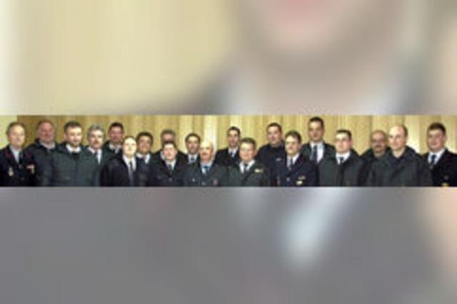 Die Feuerwehr ehrt langjährige Kameraden