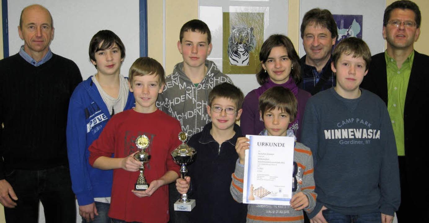 Das Team der Realschule Breisach wurde...h Wolk (rechts) von der Schulleitung.   | Foto: privat