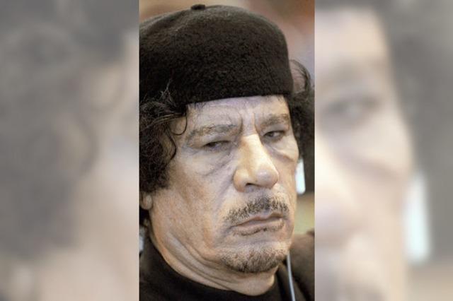 Proteste gegen Gaddafi