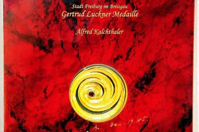 Erstmals Gertrud-Luckner-Medaille für besondere Verdienste um die Stadt vergeben