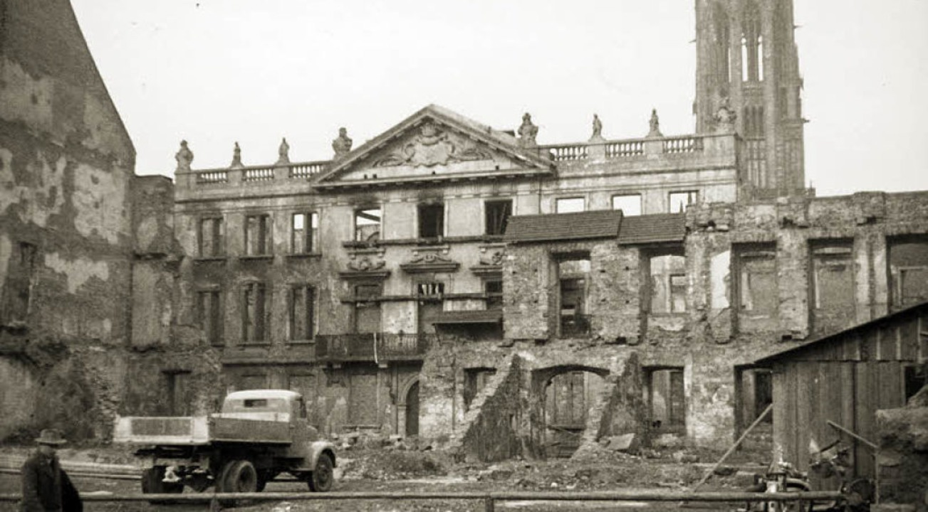 Das am 26. Februar 1954 vom Augustiner...e und im Hintergrund den Münsterturm.   | Foto: Archiv Gallo