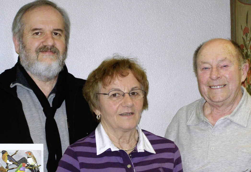 Wolfgang Tröndle (links) sowie  Friede... Vogelschutzverein Neustadt  geehrt.      Foto: Liane Schilling
