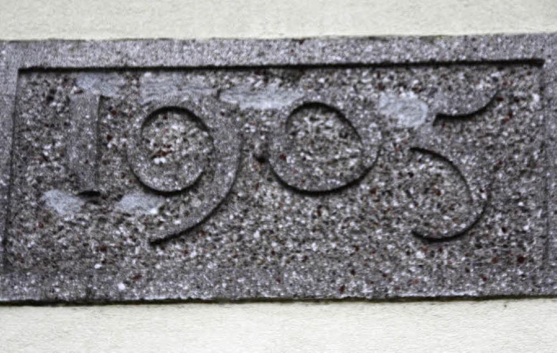 1905 wurde der Hochbehälter errichtet.    Foto: Silvia Faller