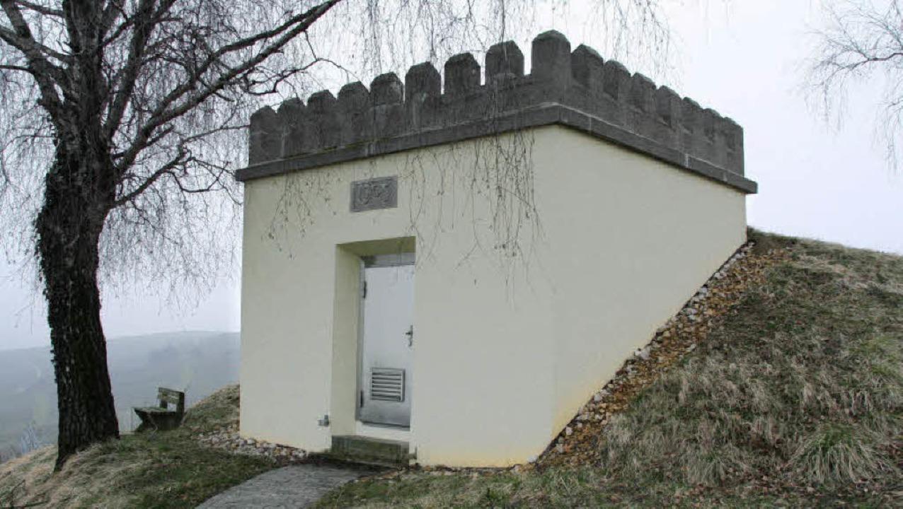 Der Hochbehälter Norsingen wird in den nächsten Jahren saniert.     Foto: Faller