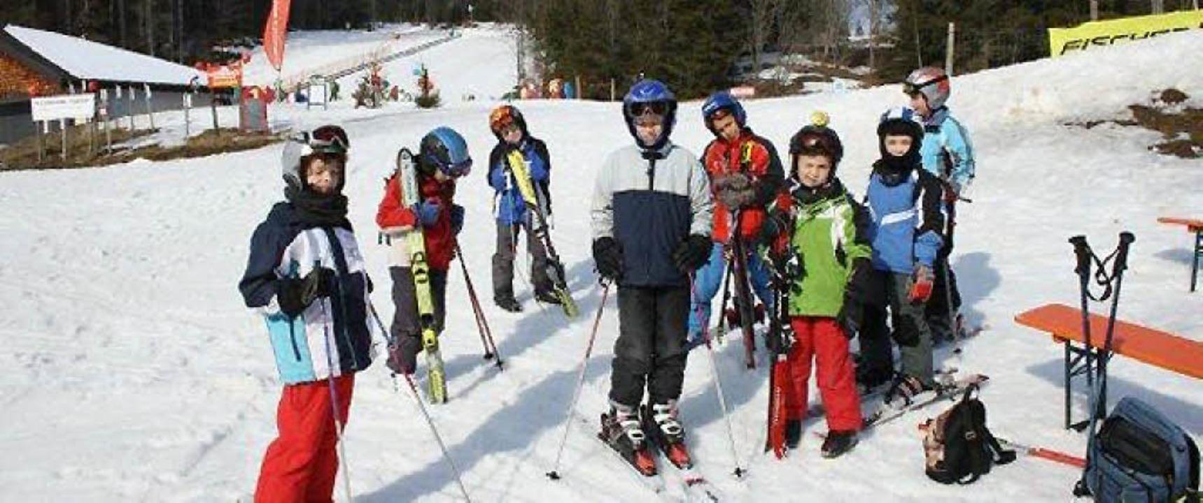 Alles bestens gelaufen ist am Wintersp...andschule: Schnee, Rodel und Ski gut.     Foto: Privat