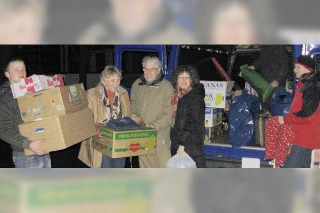 Sammlung für Bedürftige in der Ukraine