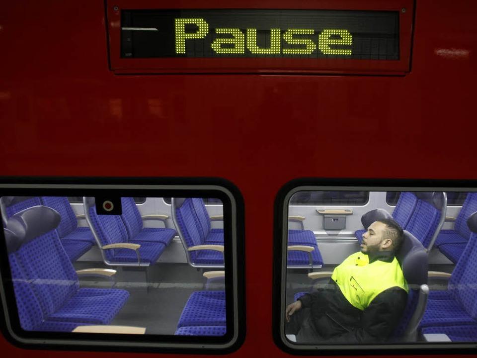 Warnstreiks der Lokführer haben den Zugverkehr erheblich beeinträchtigt.    Foto: dapd