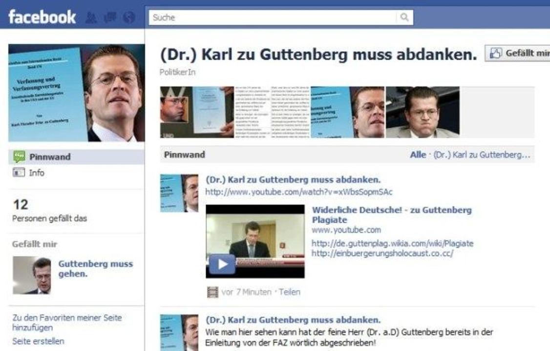 (Dr.) Karl zu Guttenberg muss abdanken.