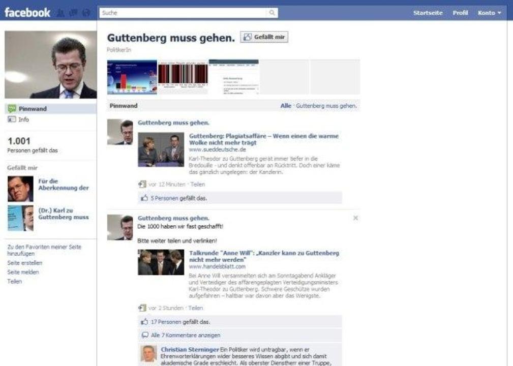 Guttenberg muss gehen.