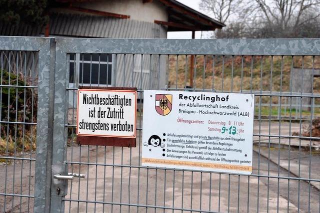 Gemeinde plant neuen Bau- und Recyclinghof