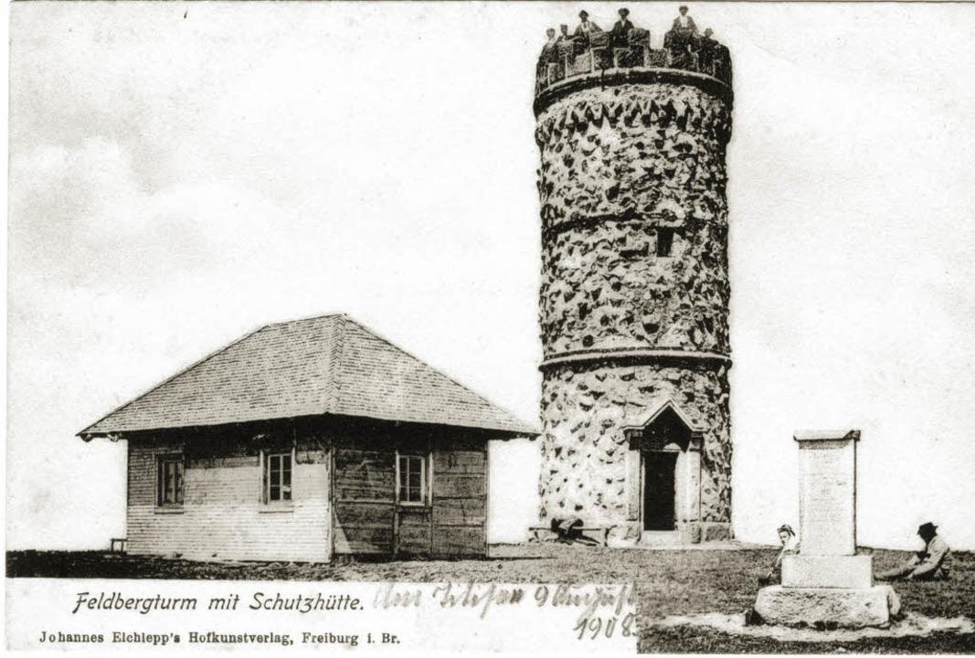Der erste Aussichtsturm auf dem Feldberg   | Foto: Kreisarchiv Breisgau-Hochschwarzwald