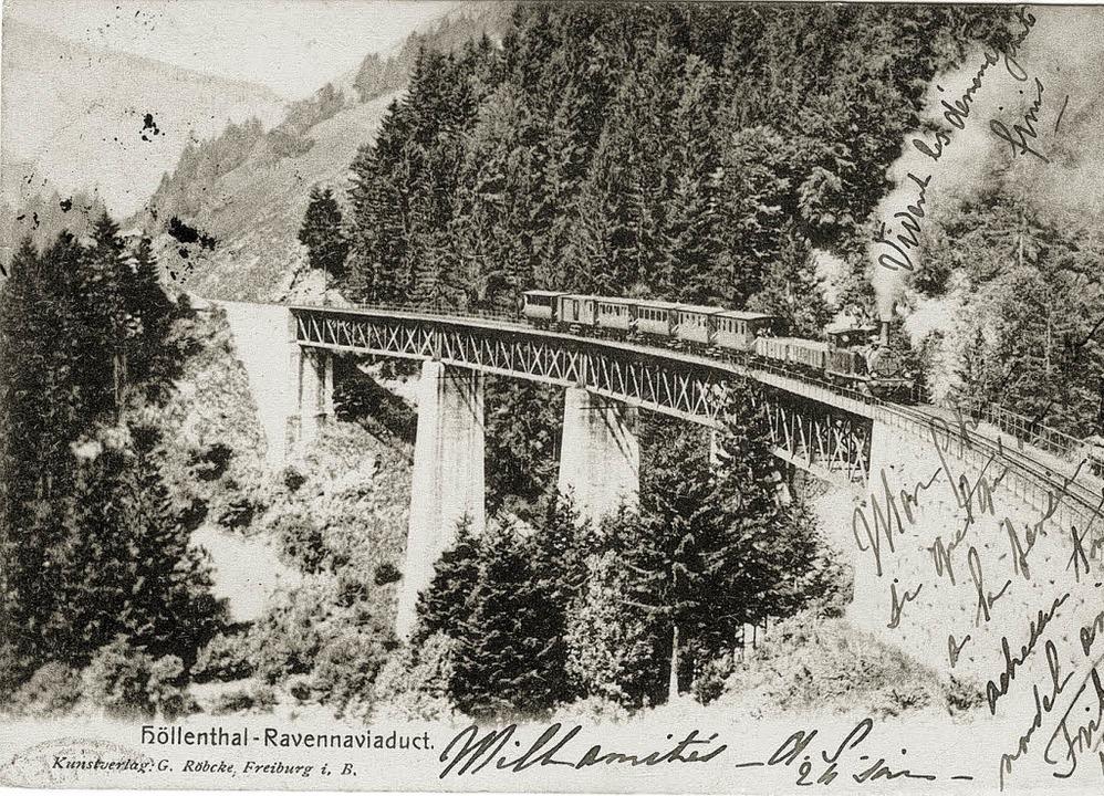 Mit der Eisenbahn in den Schwarzwald: ...aviadukt (Postkarte aus dem Jahr 1904)  | Foto: Kreisarchiv
