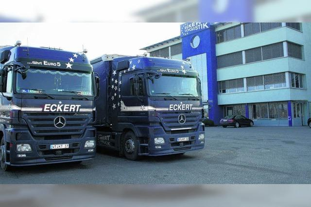 Speditionsfirma Eckert Logistik baut im Gewerbepark